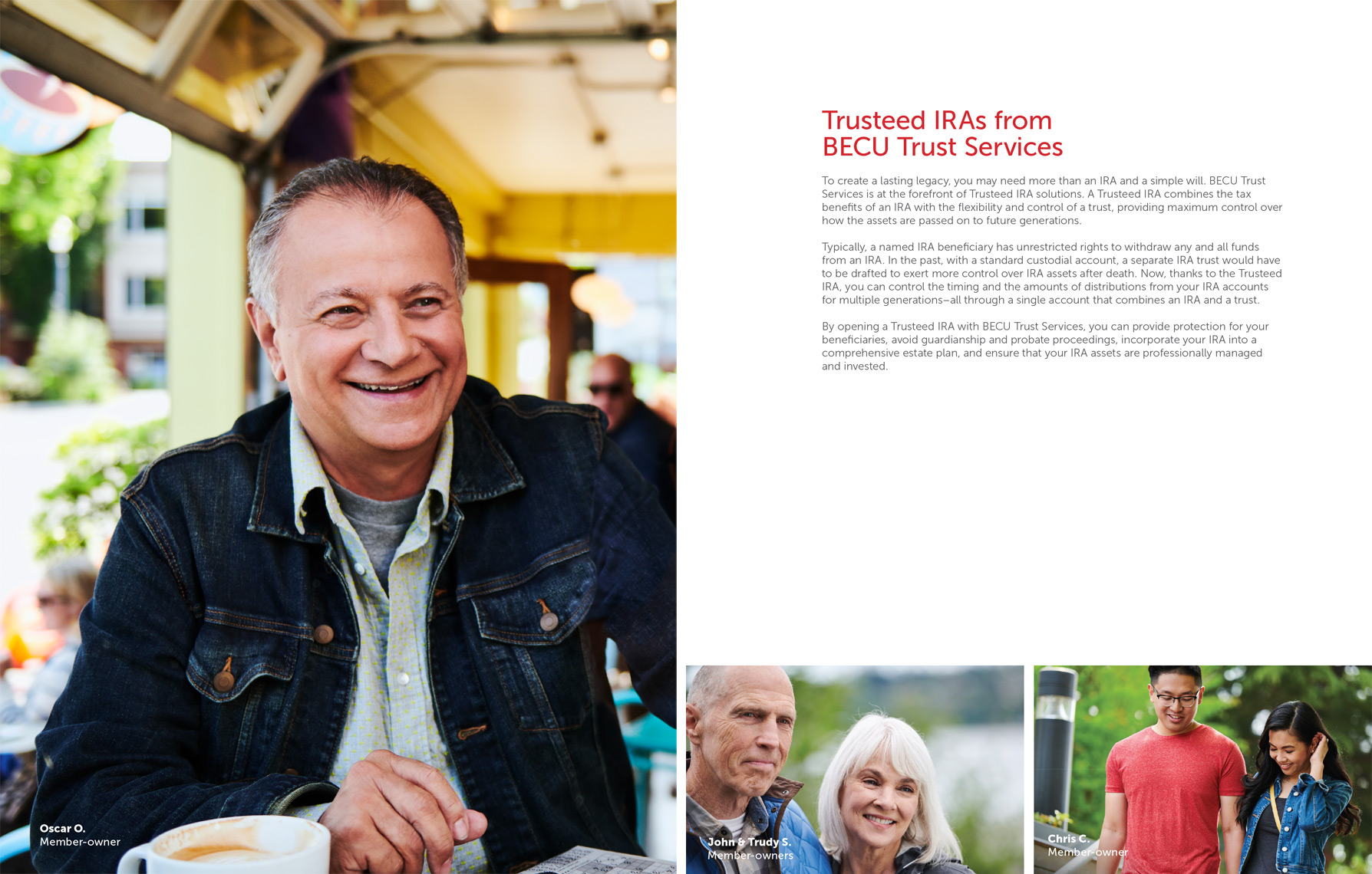 advertising campaign photos for BECU