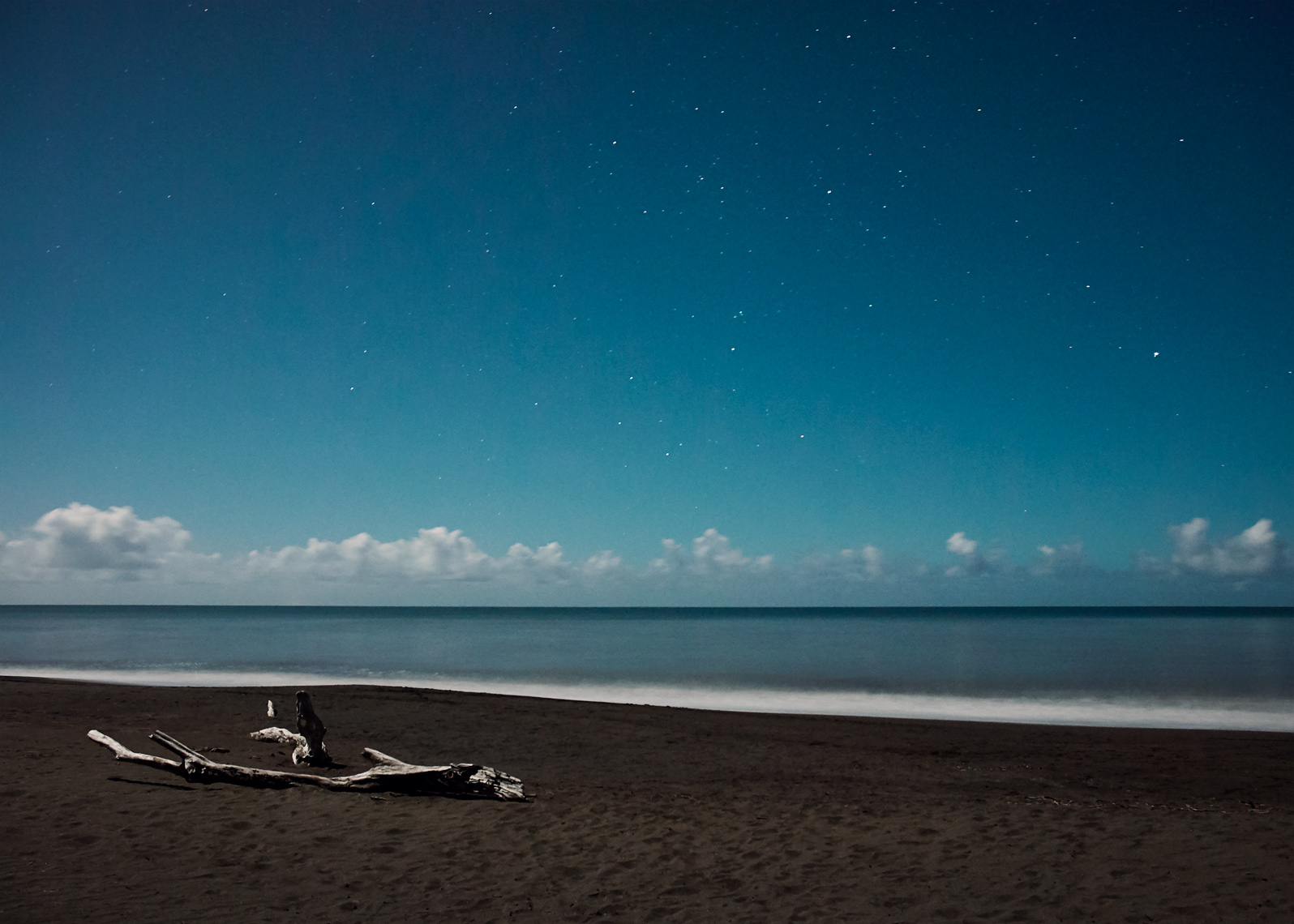 The stars are out in this long exposure shot of a PNW beach
