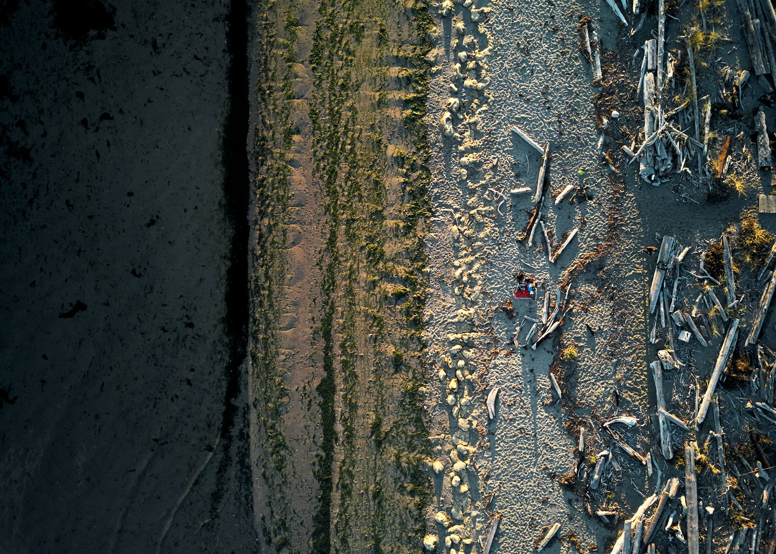 Drone photographer Amos Morgan captures beach landscape