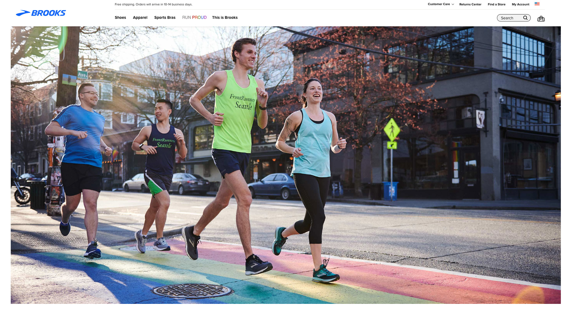 Brooks Frontrunner Homepage photography by Amos Morgan