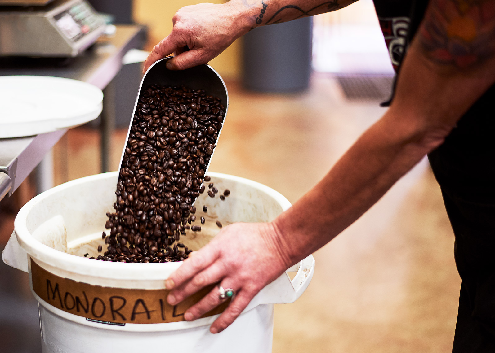 Coffee roaster branding photoshoot