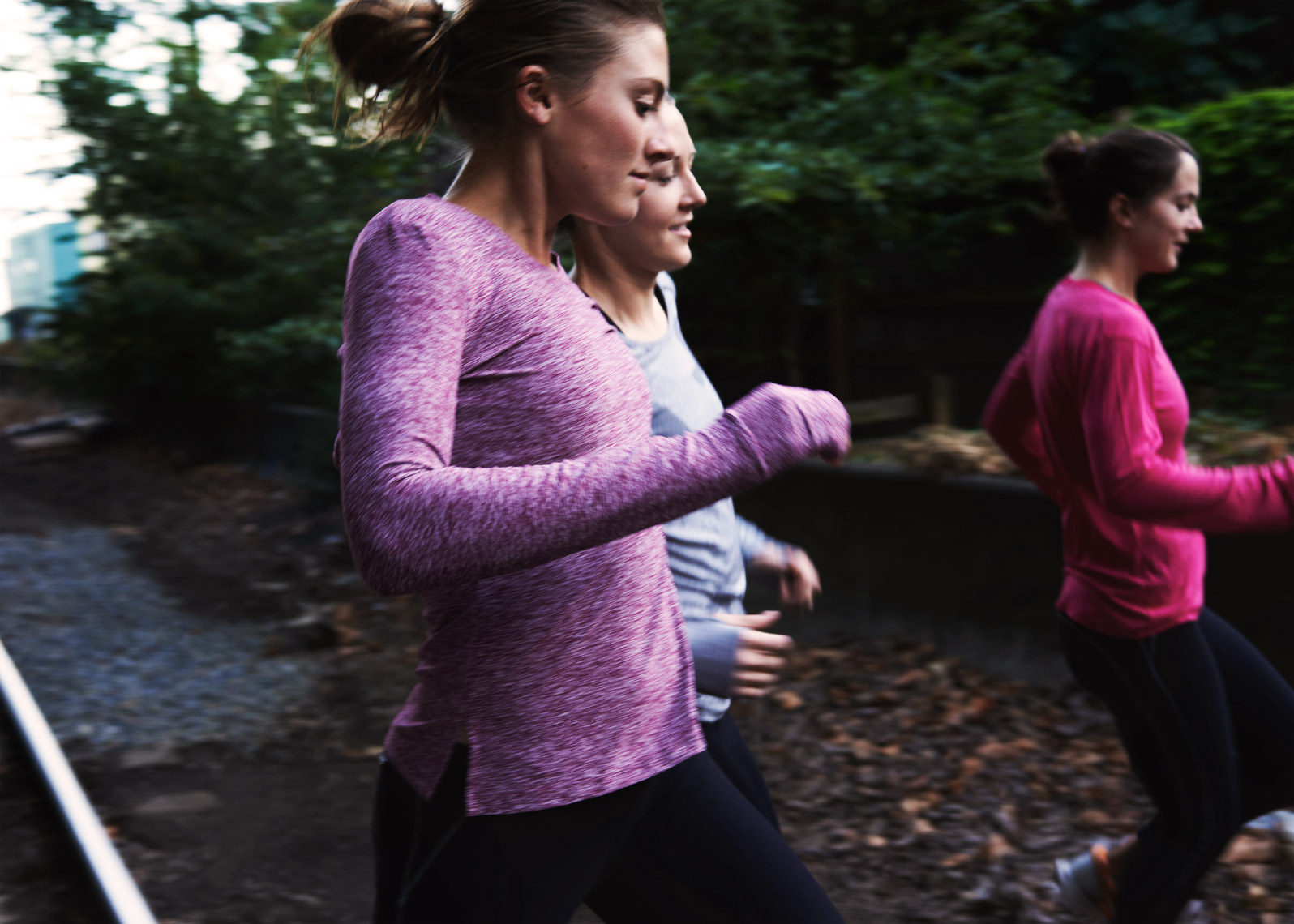Group Run for Oiselle brand photo shoot