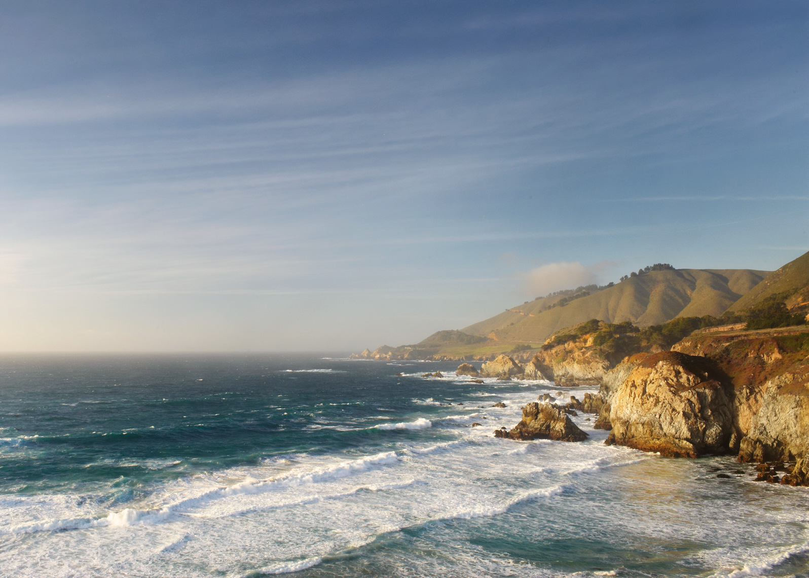 Monterey coast surf and rocks landscape photography