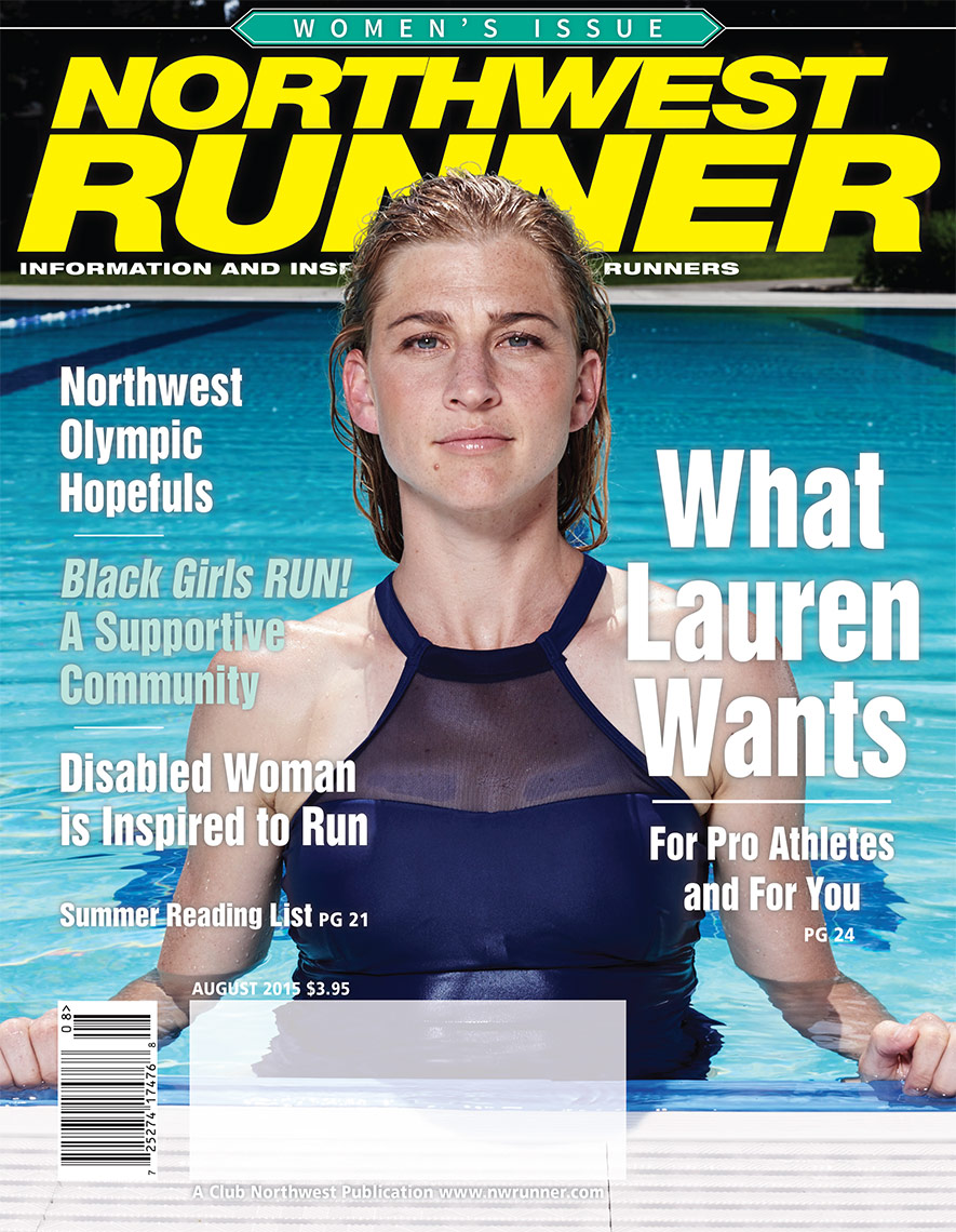 NW Runner magazine cover of Lauren Fleishman photography by Amos Morgan
