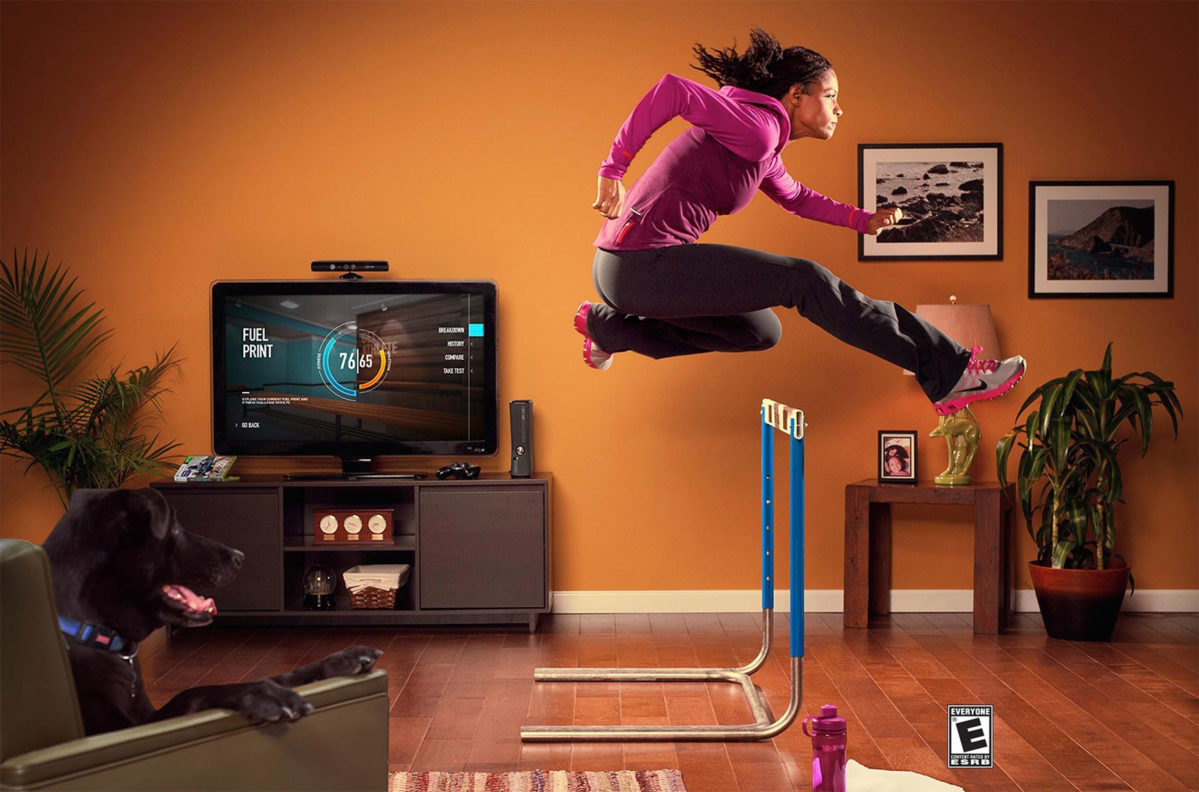 Nike and Kinnect photoshoot tear sheet