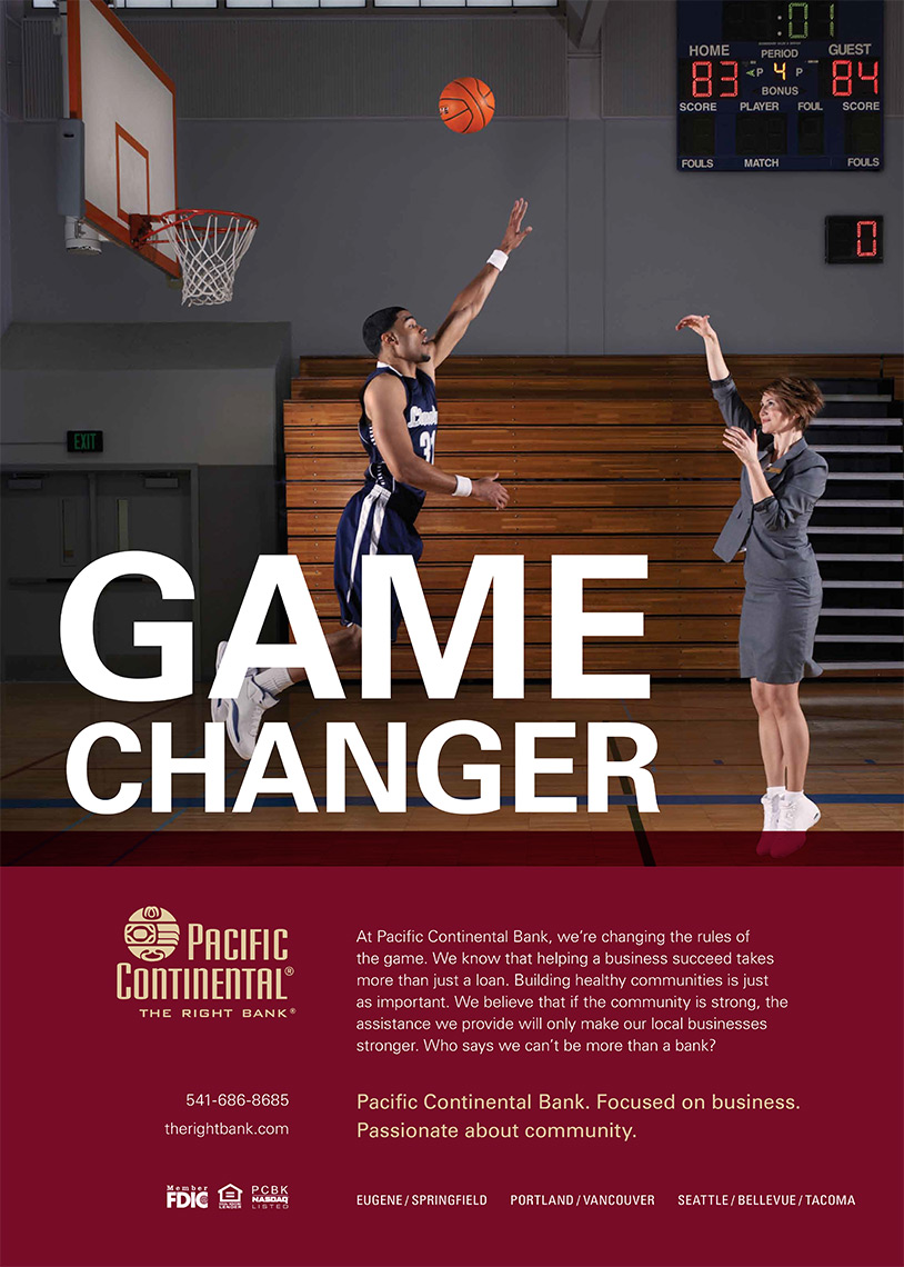 print ad campaign photographer Amos Morgan for Pacific Continental