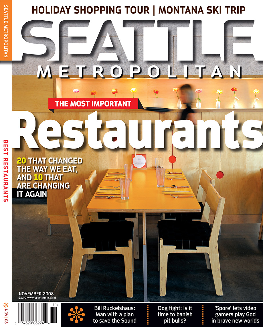 Seattle Metropolitan Best Restaurants issue cover photo by Amos Morgan