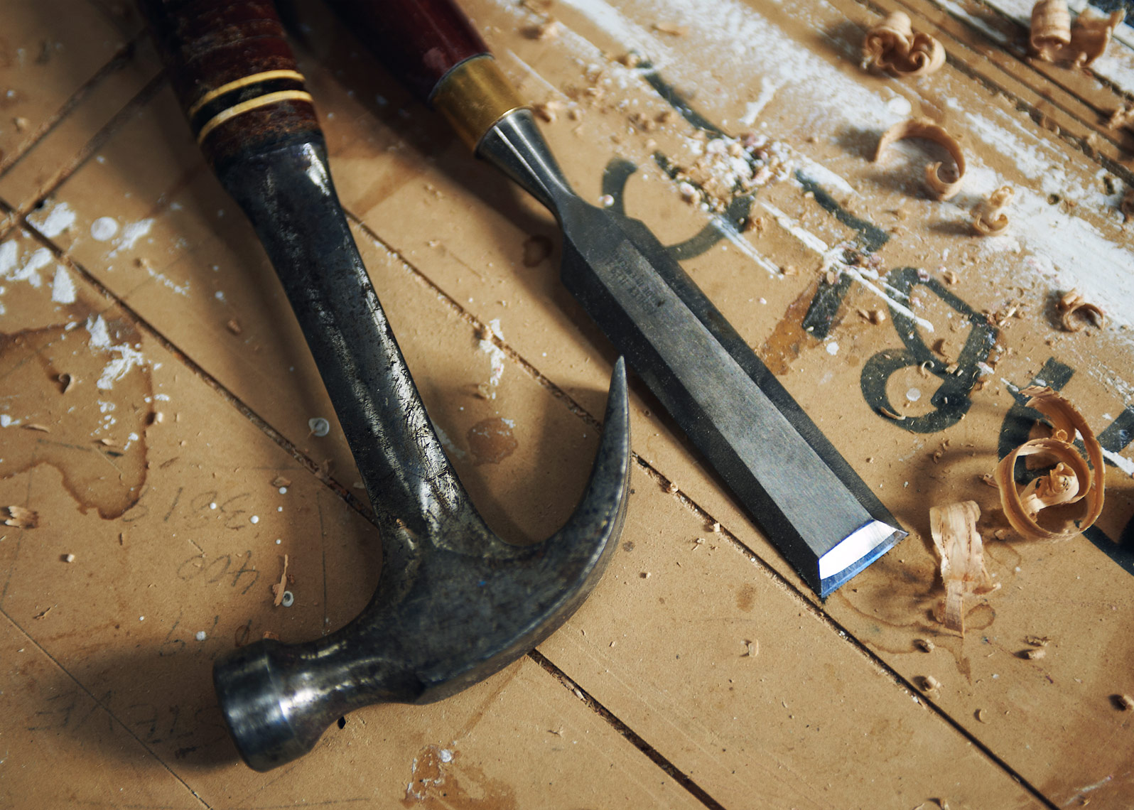 photograph of woodworkers tools